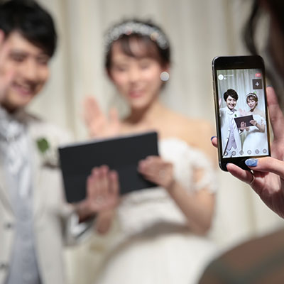 ◇挙式ライブ配信×ふたりの結婚式◇アットホームな挙式&お食事会プラン