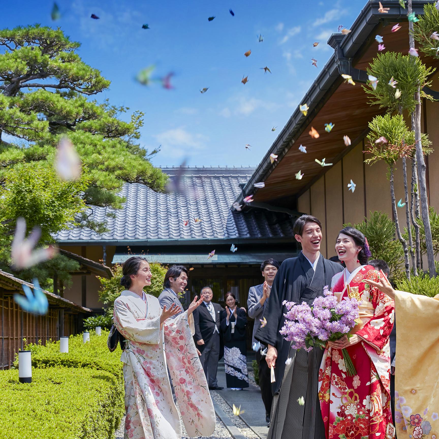 ◇198,000円◇開放的な結婚式♪青空と緑豊かな庭園挙式プラン