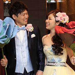 お2人らしく笑顔いっぱいの結婚式