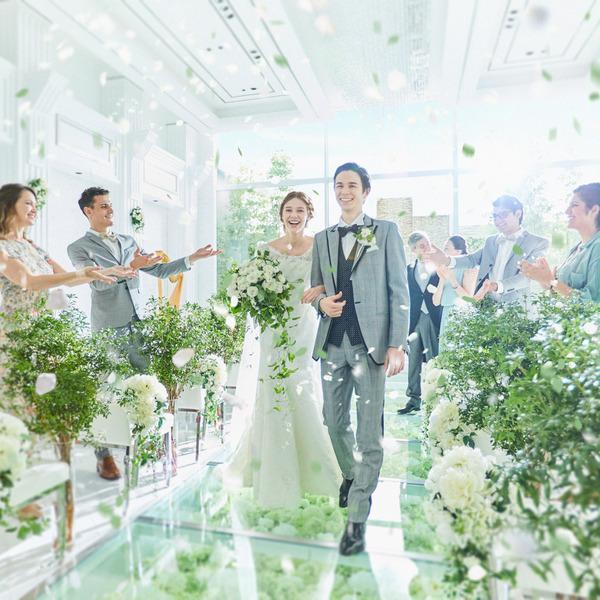 【衣装3着特典付】花のチャペルで感動挙式体験×和フレンチ試食