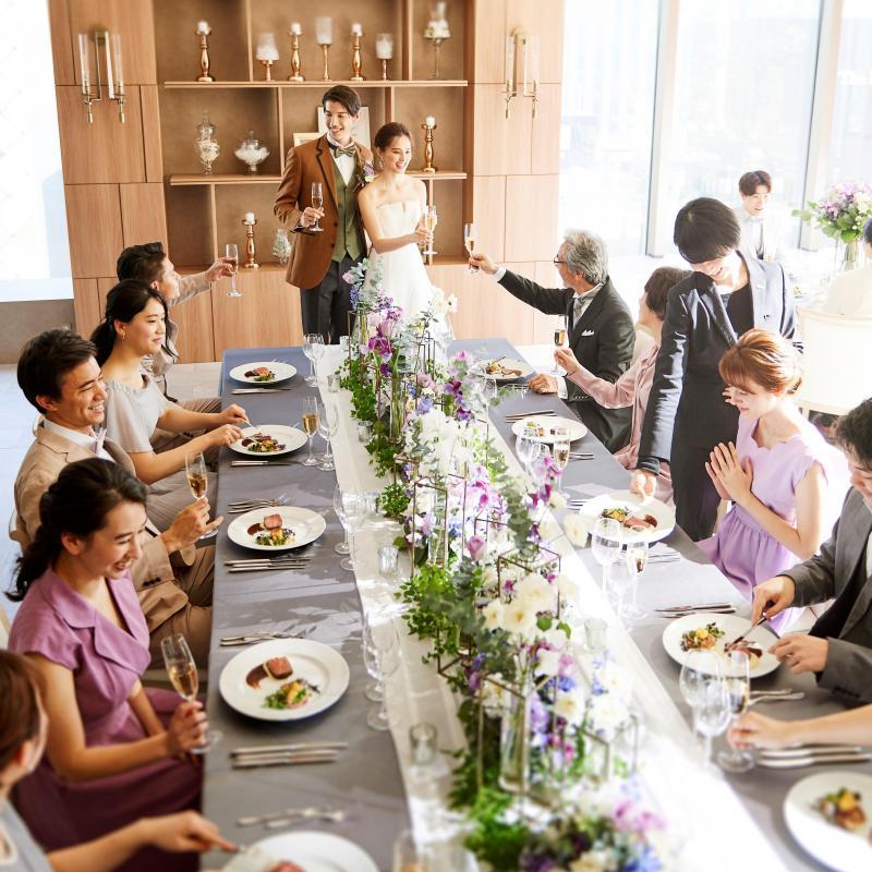 残2【家族婚におすすめ】銀座貸切×コース付×アットホーム挙式