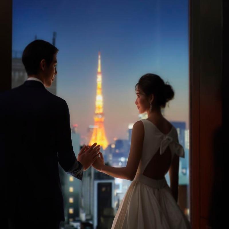 残2■人気の屋上撮影*東京タワー×スカイツリー♪特選牛コース
