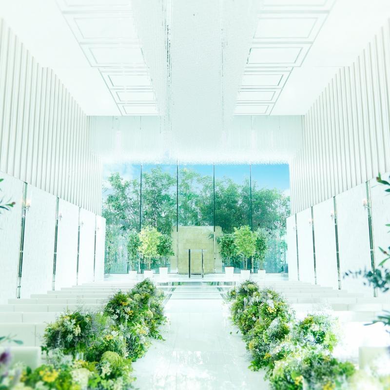 【衣装3着プレゼント】緑・光の挙式体験×国産牛など豪華試食