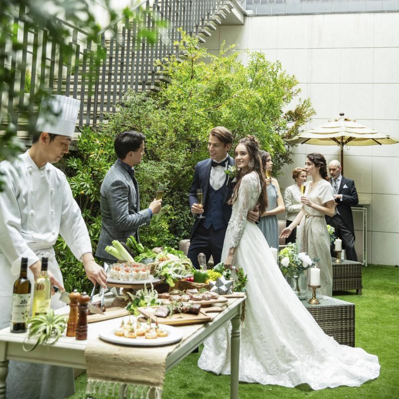 【ガーデン付パーティ会場入場体験】天空チャペル×絶品試食