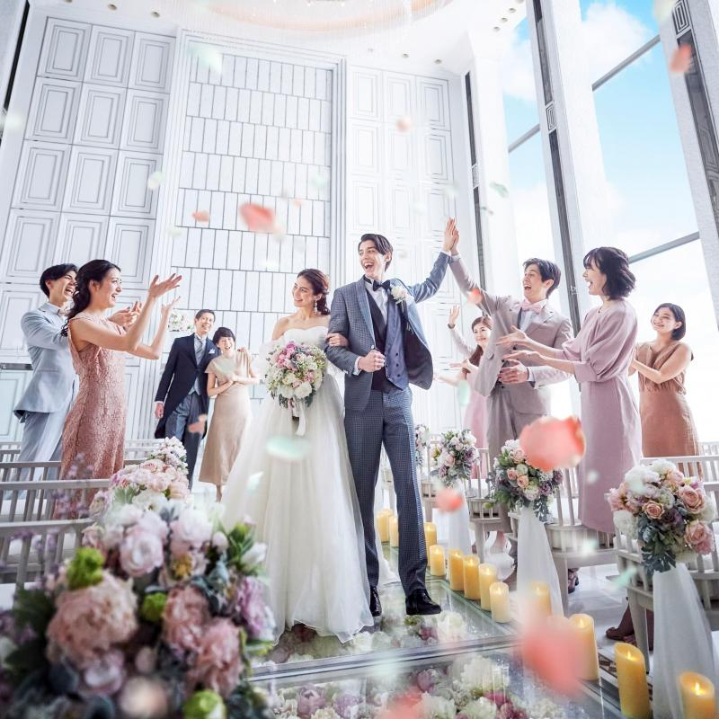 【衣装3着無料】お花のバージンロード挙式体験×5品豪華試食