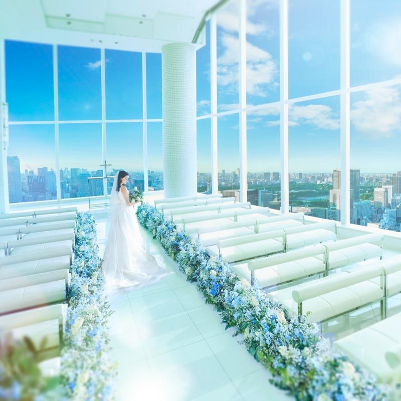 【100万円特典】東京一望!絶景Wedding体験×豪華試食