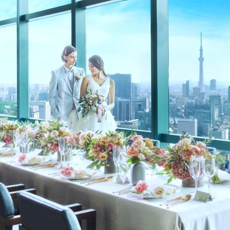 【少人数婚にも◎】試食付★天空のレストランWedding