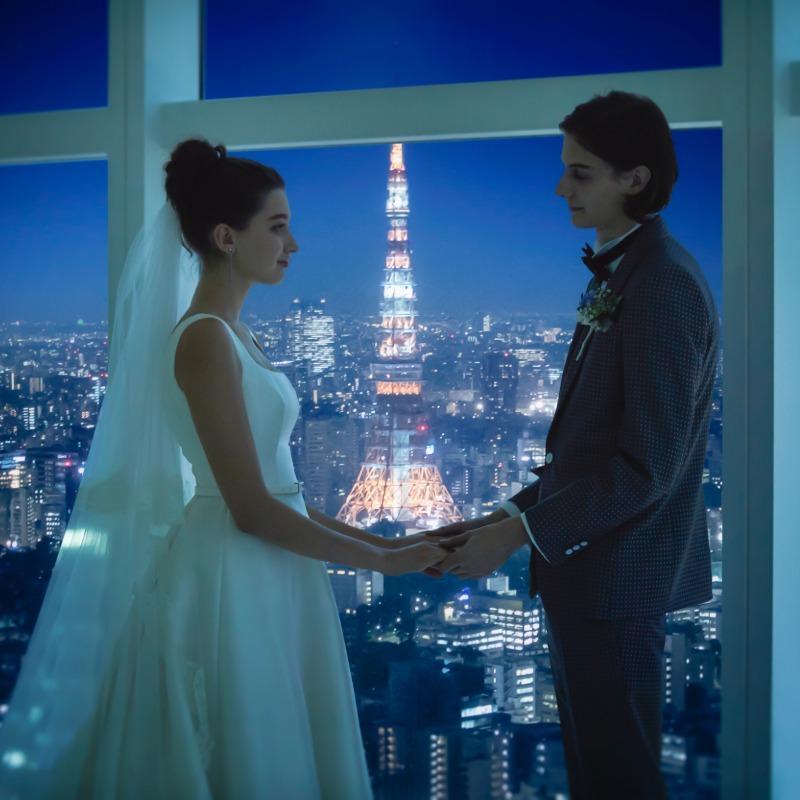 【選べるドレス特典♪】地上215mを望むチャペル体験×試食会