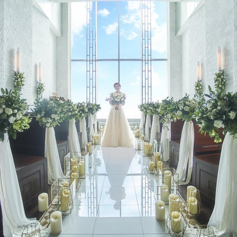 【憧れの花嫁体験】感動のスカイチャペル入場&演出体験フェア